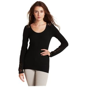 Lucky Brand| Lace Inset Thermal in Lucky Black
